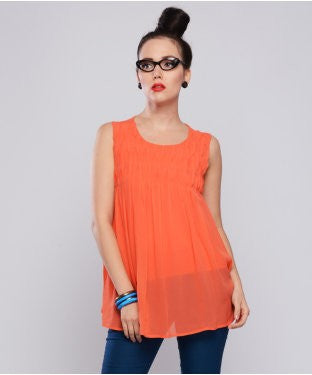 Ritu Kumar Coral S/L Top With Inner