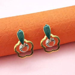 Tanishka Fashion Gold Plated Green Meenakari Austrian Stone Stud Earrings $ 1312862D