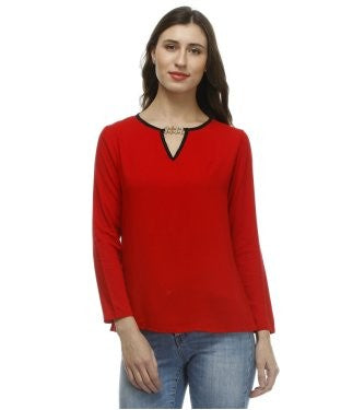 Glam a gal red f/s top