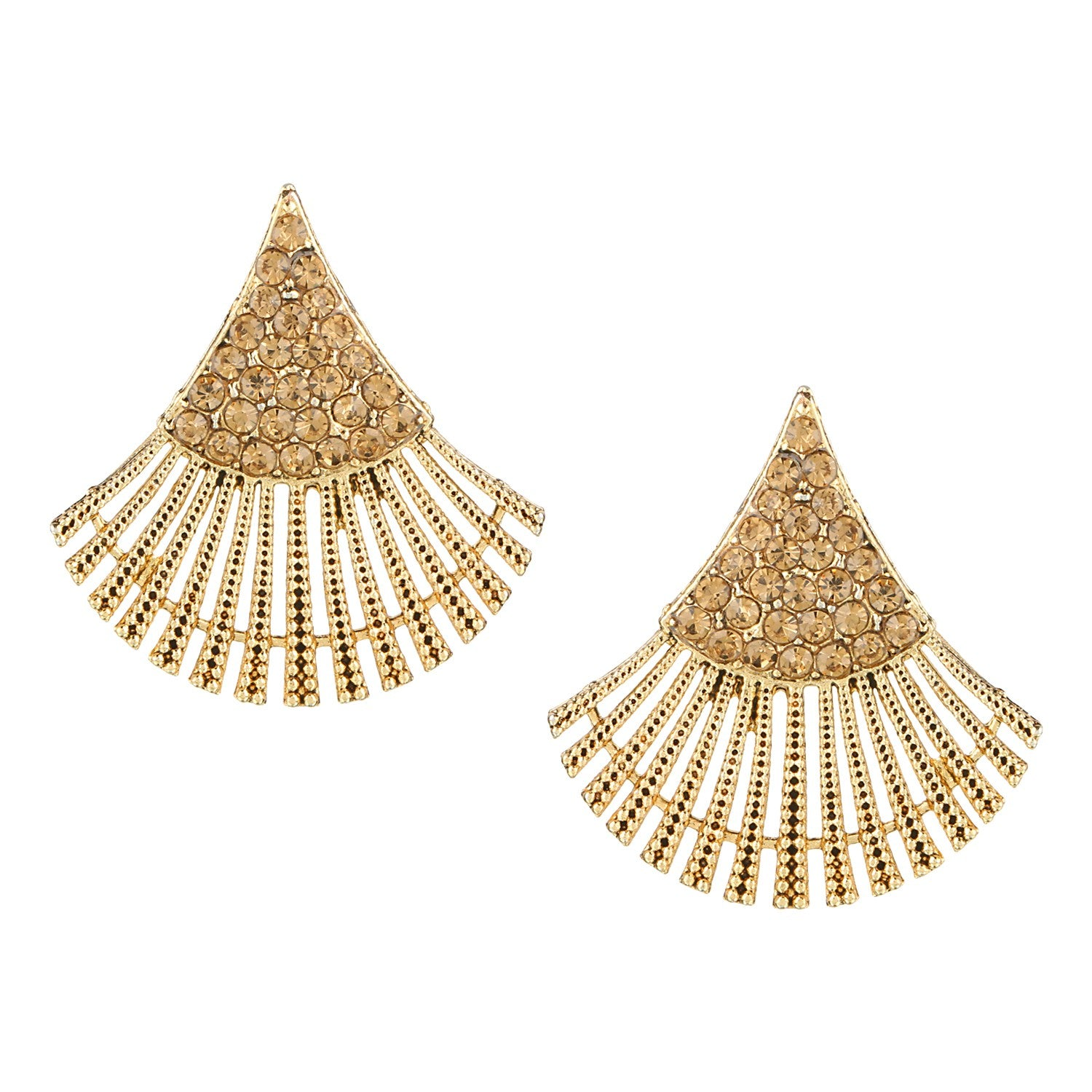 designer earring gold ear stud alloy white products parna plated diamond