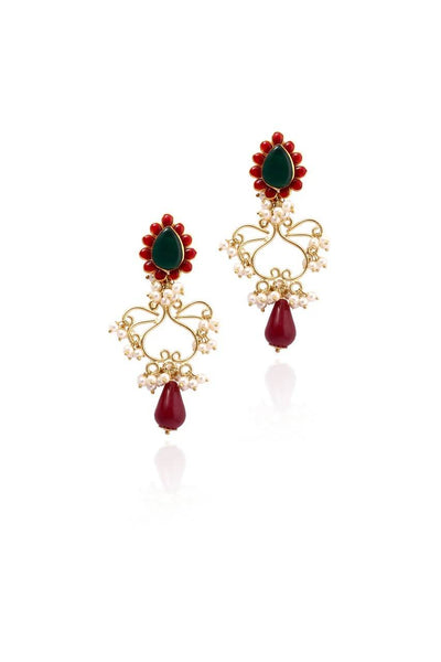 Bauble Burst Moti Nritya Earrings