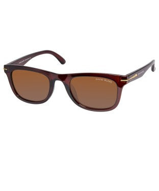 David Blake Brown Wayfarer Polarized, UV Protected Sunglass