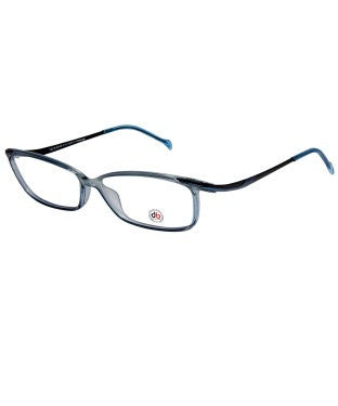 David Blake Transparent Blue Rectangular Full Rim EyeFrame