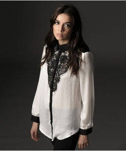 Unsecret White And Black F/S Shirt