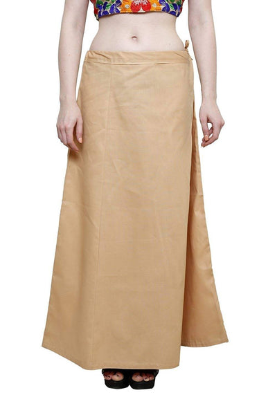 MY TRUST Cotton Beige Color Saree Petticoats $ PT-3