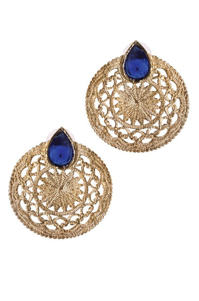 Azure Wheel Earrings - JPIMEAR1897
