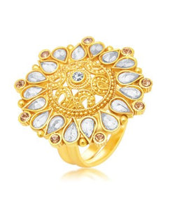 Sukkhi Intricately Crafted Gold Plated Ring For Women