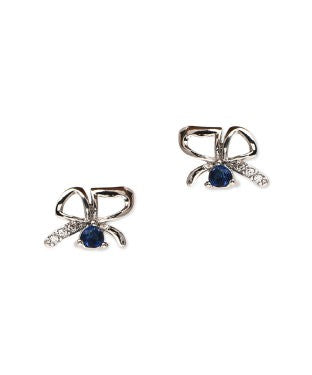 Golden Peacock Silver Plated Butterfly Stud Earring