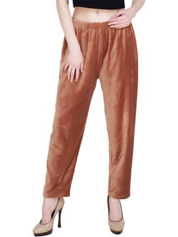 Baluchi 'PLUS SIZE' Women Winter Woollen Velvet Pyjama Bottom Pant with Fleece Inside Size- 30 to 38 $ BLC_PYJTAN_01