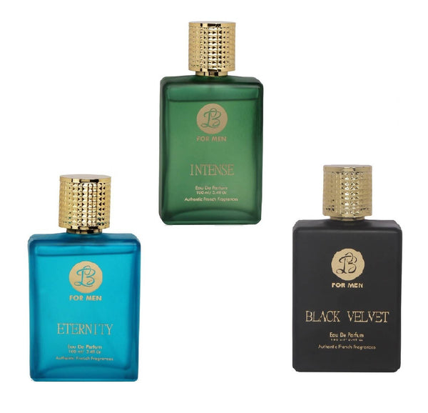 EAU DE PARFUM INTENSE ETERNITY BLACK VELVET Perfume Spray for Men- (Set of 3) (100ml each)
