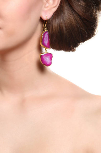 Lagoon Pink Earrings - JGEPEAR8373