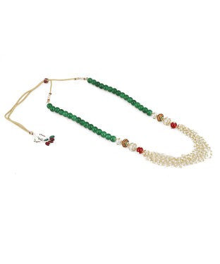 aradhya Beads Yellow Gold Plated Alloy, Metal Necklace