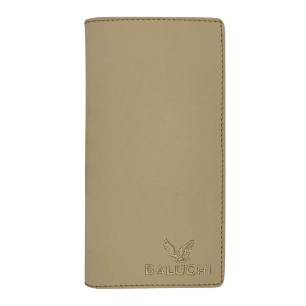 Baluchi Beige Matt Finished Long Wallet for Men & Women $ BLC_LNGWLT_BEG_03