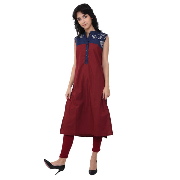 VRITTA Women's Cotton Embroidered Straight Kurta $ VR0032