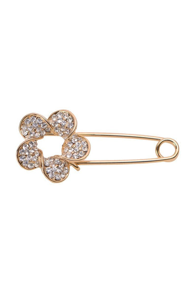 Flower Shine Safety Pin - JIFDBRO6000