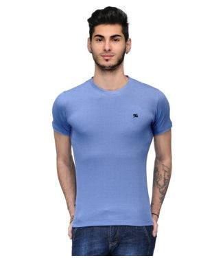 Dazzgear Men's Blue Round Neck MTO-78 T-Shirt