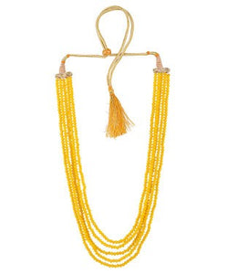 Aradhya Crystal Jewel Set (Yellow)