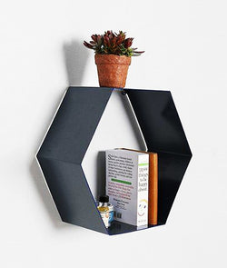 THE NEW LOOK Hexagonal Shape Wall Shelf-100000636328
