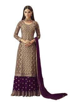 YOYO Fashion Georgette Straight Semi-Stitched salwar suit $F1297