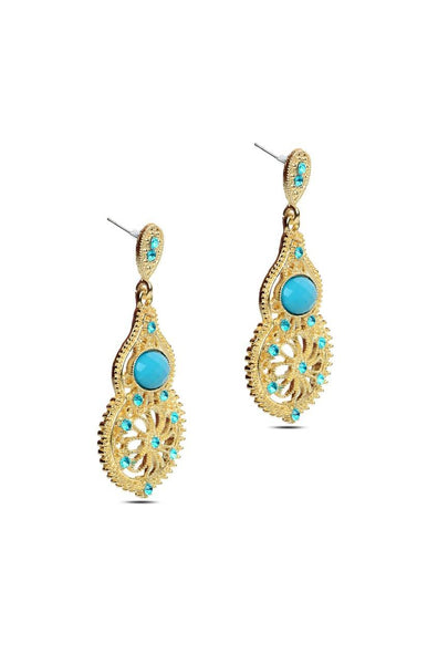 Antique Allure Drop Earrings - JIHJEAR4521