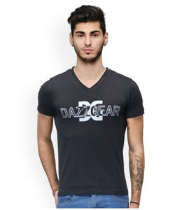 Dazzgear Men's Black V Neck MTV-69 T-Shirt