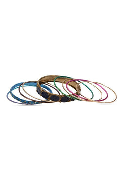 Bauble Burst Colour Clash Bangles Stack