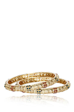 Bauble Burst Swarna Bela Bangles Set