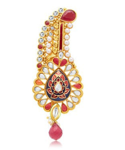 Sukkhi Fabulous Gold Plated Kilangi Brooch For Men