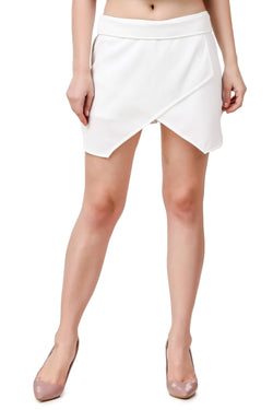Fame 16 midi length Women's White Nylon Skort Skirt $ F16-1600125