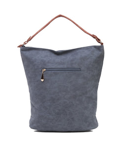 Fiona Trends Blue PU Shoulder Bag,6606_BLUE