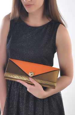 Oomph Orange Clutch - JTFDCBG0022