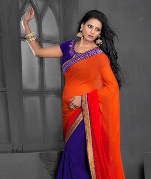 Chiffon Saree with Blouse