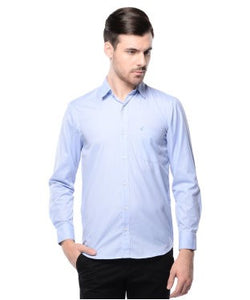 Smith & Co Blue And White F/S Shirt
