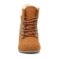 London Rag Women's Tan Ankle Boots-SH1437TAN