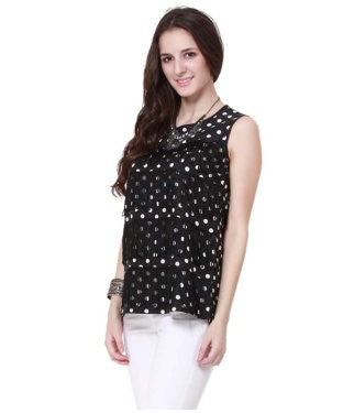 Nineteen Black S/L Top