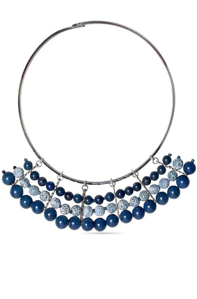 Blue Blaze Necklace - JGEPNEC9220