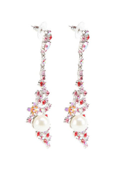 Floral Pearl Earrings  - JAWCEAR0780