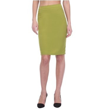 Glam a gal green kneelength skirt