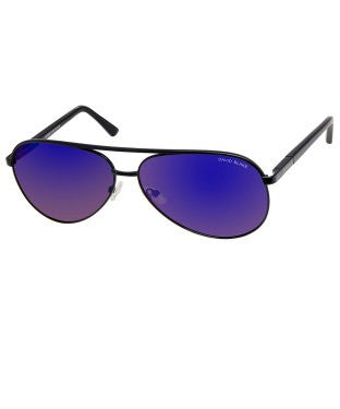 David Blake Blue Aviator Polarised, UV Protected Sunglass