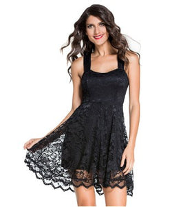 Lace Party Skater Dress