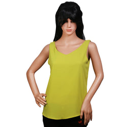 Fashiontiara Chiffon V neck Top & Tunic Sleeveless casual wear Small Size women girls $ FTT166