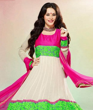 Poly Georgette Suit With Dupatta
