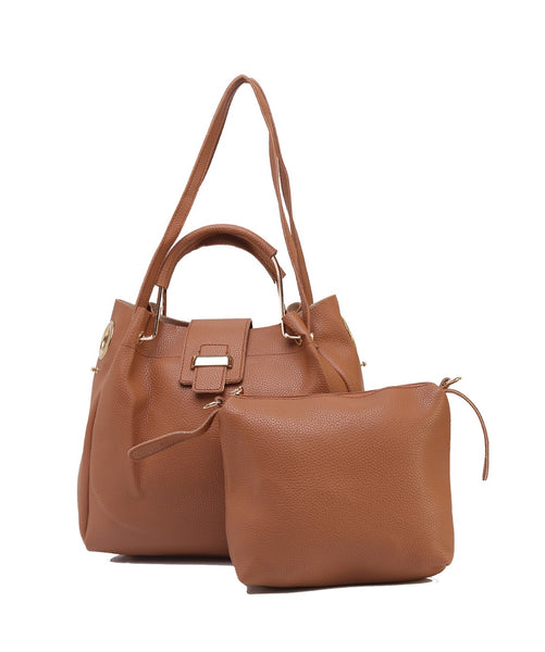 Fiona Trends Tan PU Shoulder Bag,614_TAN