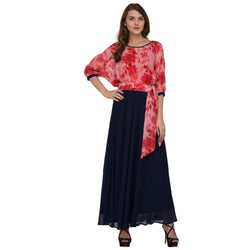 BUTTERFLY LONG GEORGETTE DRESS FOR WOMEN $ GB0008