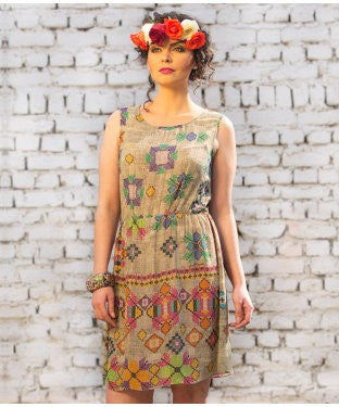 Hemant And Nandita Beige And Multi Tunic