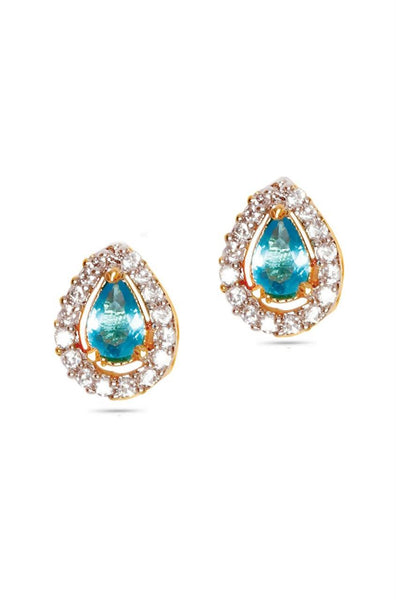 Dew Drop Blue Earrings - JCHCEAR1305