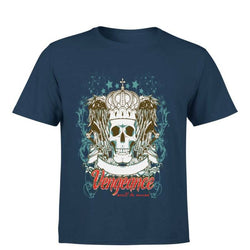 Partum Corde Premium Men's Modern Fit Round Neck T shirt VENGEANCE WILL BE MINE $ VENGEANCE WILL BE MINE2133