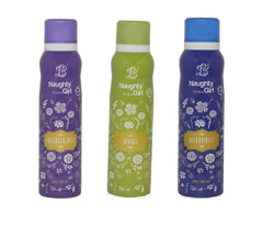 Naughty Girl LAVENDER MIST VOYAGE ULTRAVOILENT Deodorant for Women- (Set of 3) (150ml each)