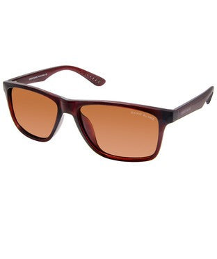 David Blake Brown Polarised Rectangular Sunglass
