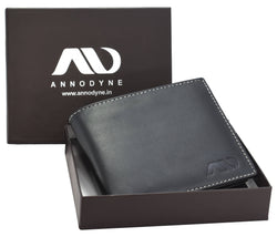 Annodyne Men's BLACK BRUNO Genuine Leather Wallet_A510WM $ R_A510WM_BLK